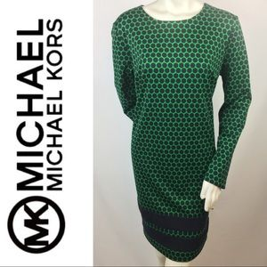 Michael Kors | Green & Black Polka Dot Dress 16